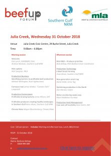 Julia Creek Beef Up Forum